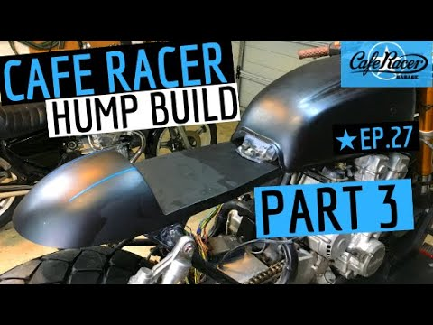 Cafe Racer - Hump Build, Fibreglass Hump, PART 3, Honda CB750 Cafe Bike - Episode 27
