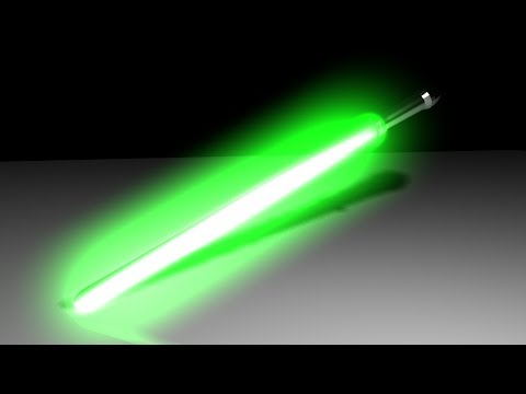 Maya 2014 tutorial : How to create a lightsaber