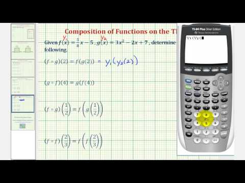 Composite Function Values on the TI-84