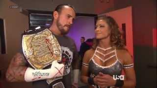 CM Punk & Eve Torres Backstage Segment - WWE Raw 7/9/12 [HD]