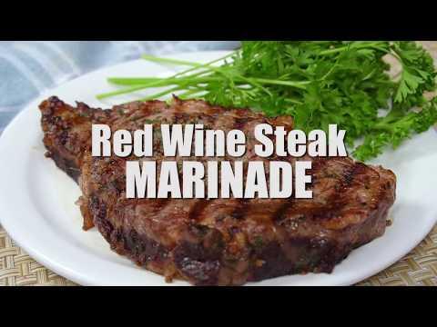 RED WINE STEAK MARINADE   EASY BBQ MARINADE RECIPE