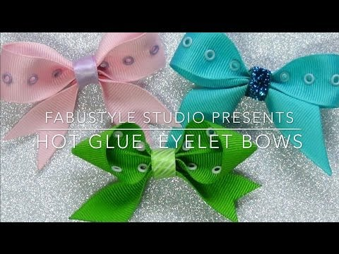 DIY Hot Glue Eyelet Bow from the FabuStyle Studio