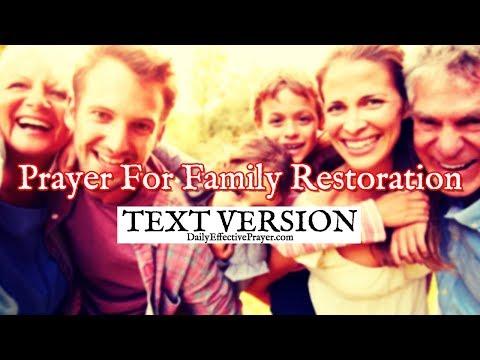 Prayer For Family Restoration (Text Version - No Sound)