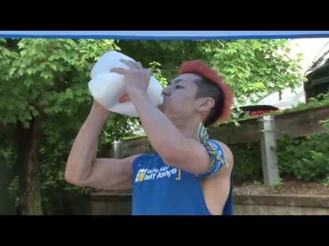 Kobayashi Completes the Gallon Milk Challenge