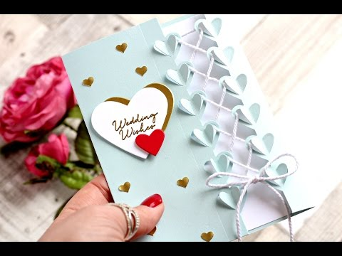 Wedding card idea using Love Notes Framelits Dies by Stampin' Up!
