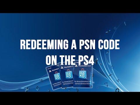PS4 - Redeeming a PSN Code, Voucher Code or Promo Code