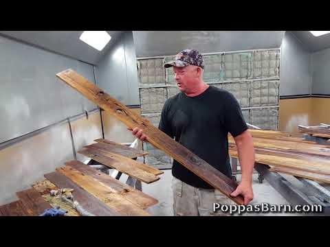 Reclaimed Wood Finishing Process
