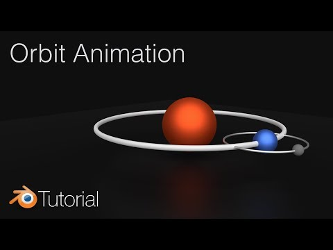 Orbit Animation in Blender, Planet and Moon Tutorial