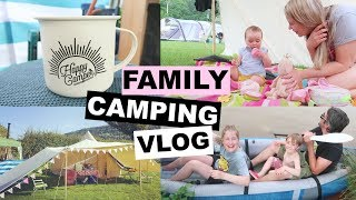 CAMPING IN A STORM | FAMILY CAMPING VLOG | Kate+