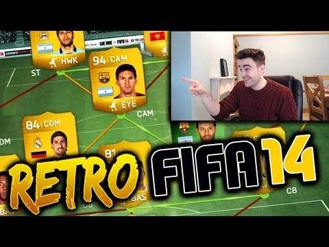 EPIC MESSI SQUAD BUILDER!!! - RETRO FIFA 14 TEAM WITH MESSI, GREEN MASCHERANO AND MORE!!!