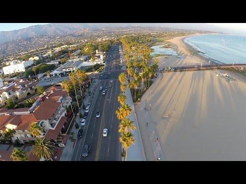 DJI Phantom and GoPo Hero 3+ Over Santa Barbara