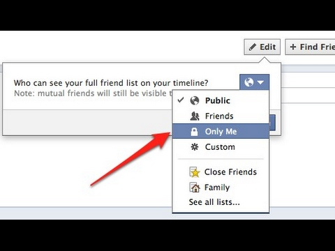 How to hide friends list on facebook lite...