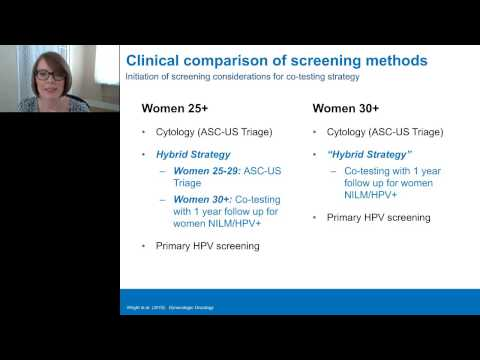 Julia Engstrom Melnyk - Primary HPV Cervical Cancer Screening - Supporting data and guidance updates