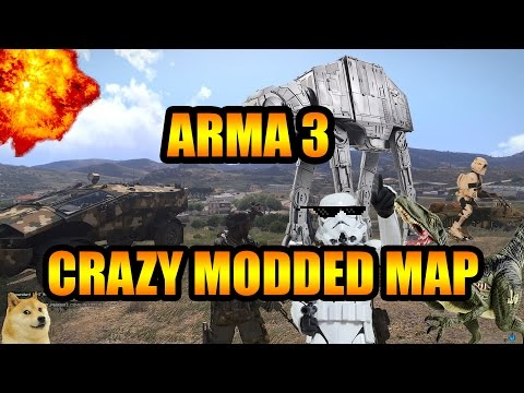Arma 3 Mods - Star wars Mod + Dinosaur Mod + Nuke Mod! - Modded