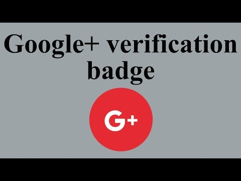 Google+ verification badge