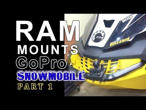 Ram Mounts GoPro on 2016 Ski Doo Blizzard: PART 1
