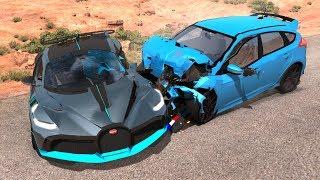 Beamng Drive Bugatti Divo Crash Testing (realistic Physics)