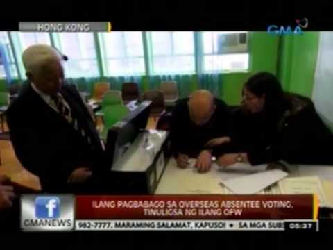 24 Oras: Overseas absentee voting para sa Eleksyon 2013, nagsimula na