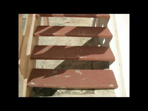 4 x 12 Stair Treads Work Great On Open Stairs With Brackets