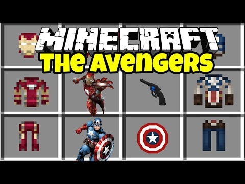 THE AVENGERS INFINITY WAR MOD in MINECRAFT!