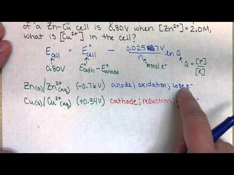 Chem163 Nernst Equation Example (18.5)