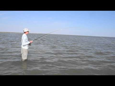 Fly Fishing for Redfish Laguna Madre Texas