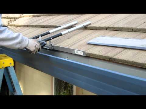 How to install Super Clean Gutter Screen for the heavy tile roofs.