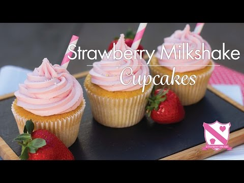 Strawberry Milkshake Cupcake Recipe - In The Kitchen With Kate