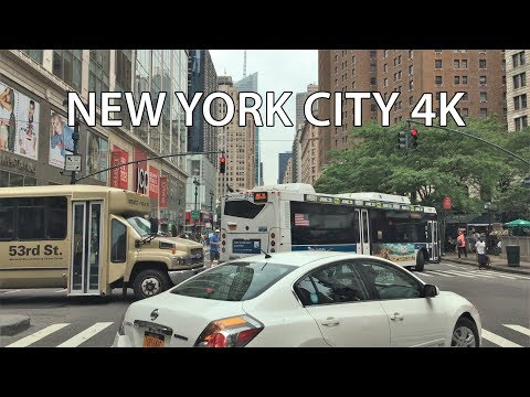 Driving Downtown - America's Avenue 4K - New York City USA