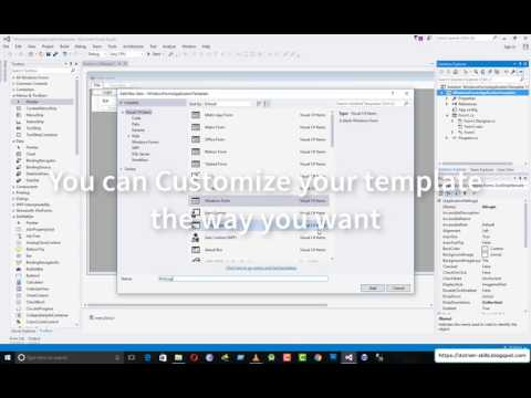 Creating Custom Template Project For Windows Forms Application In Visual Studio