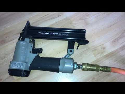 How to use a Porter Cable Brad Nailer