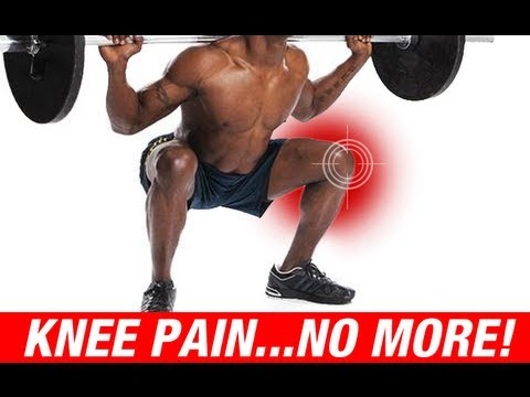 How to Squat with Knee Pain - SQUAT FIX!! (Knee Pain No More!)
