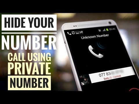 How to call anyone without showing your number on their mobile screen in HINDI.2018!!