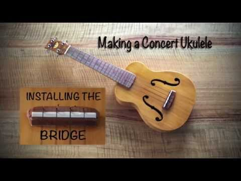 How to make a ukulele 17 - Attaching the Ukulele Bridge