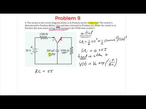 RC Circuits - Problem 9 - Energy dissipated during discharge