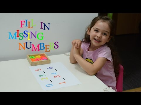 Learn Counting Fill in Missing Numbers - montessori activities toddlers kids play - teaching methods