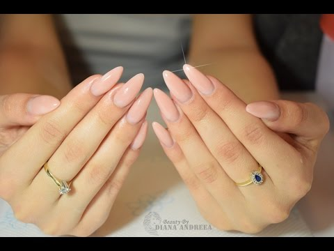 How To: Almond Shaped Gel Nails Tutorial