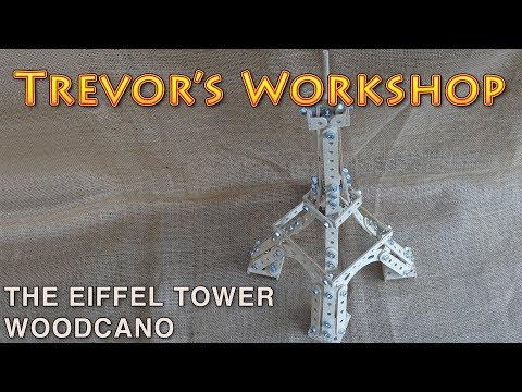 eiffel tower made from wooden meccano - makers care 2017 - make time 4 play