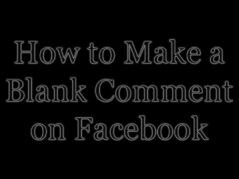 How to create blank status or comment