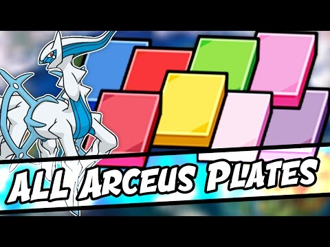 ALL ARCEUS PLATES LOCATIONS IN POKEMON SUN AND MOON! ALL TYPE PLATE LOCATIONS!