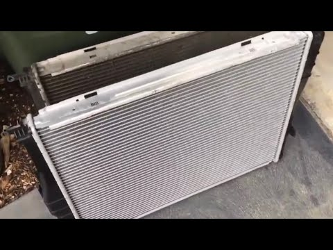 BMW Radiator removal 1 or 3series or X1. I change out & reinstall my BMW radiator e87 e90 e84