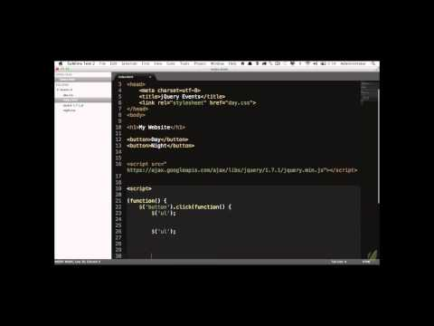 Learn jQuery in 30 Days: Lesson 1.3 - Events 101