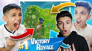 We All Got Into The Same Solo Game! Fortnite 1v1v1 Against Brothers!