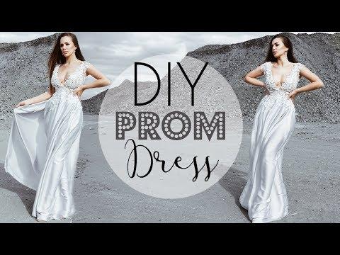 DIY PROM DRESS ( super EASY ) | Tijana Arsenijevic