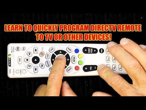 How to Program Your DirecTV Remote to Operate Your TV....