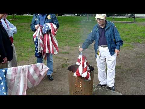 American Flag Burning Ceremony