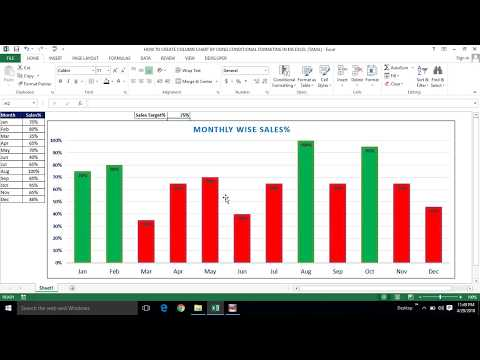 HOW TO CREATE COLUMN CHART BY USING CONDITIONAL FORMATING IN MS EXCEL (TAMIL) | Kallanai YT