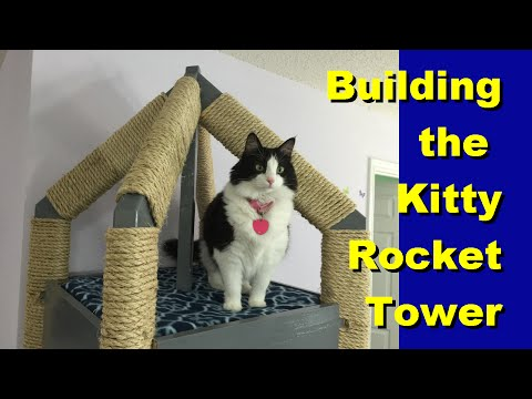 How to build the Kitty Rocket Tower Cat Tree