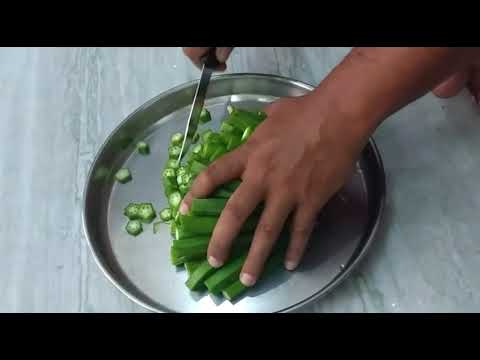 How to cut bhindi in 20 seconds