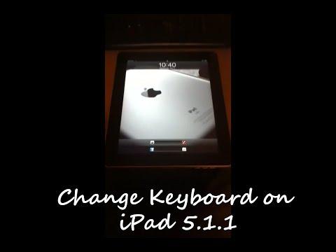How to change keyboard on iPad